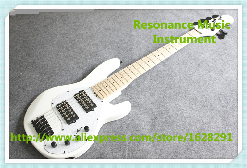 High Quality Glossy White Finish Musicman 6 String Electric Bass Guitar From Chinese Factory cactus cs ga420050ed a4 200г м2 глянцевая фотобумага для струйной печати 50 листов