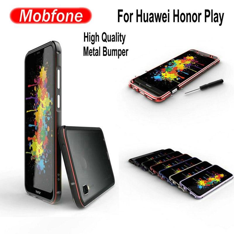 Fashion Luxury UltraThin Slim Aluminum Metal Frame For Huawei Honor Play COR-L29 6.3inch Phone Funda Bumper Honor Play Cases