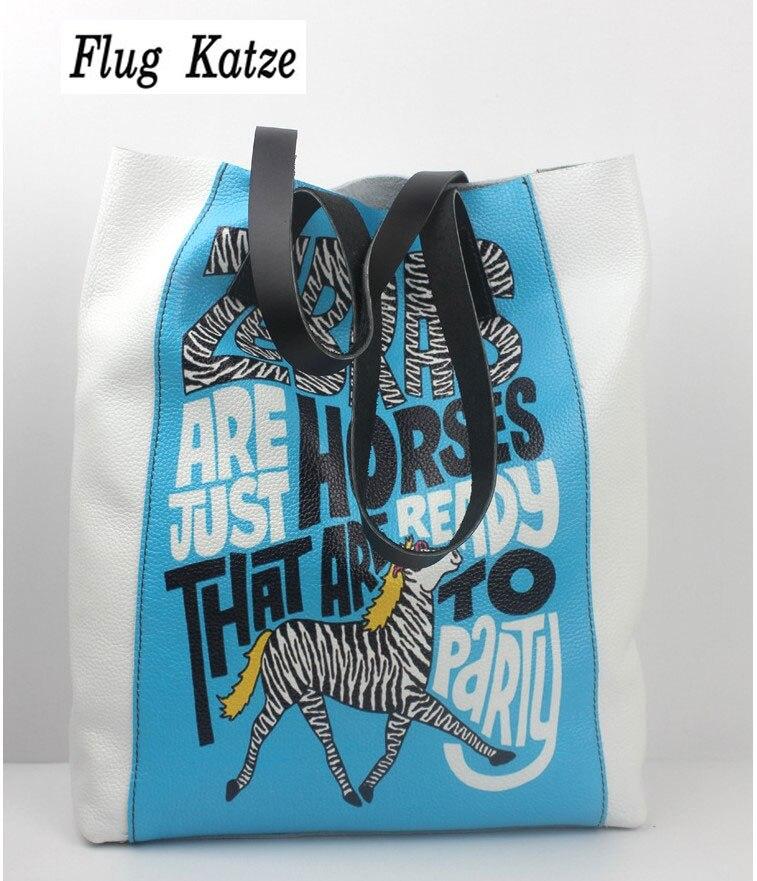 Flug Katze Real Genuine Leather Shopping Bag Bolsas Femininas Women Handbags dollar price Fashion Designer Brand