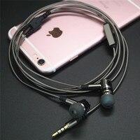 מותג מקורי אוזניות PTM 846 אוזניות אוזניות קלאסי מתכת אוזניות עם מיקרופון עבור MP4 טלפון נייד עבור IPhone אנדרואיד