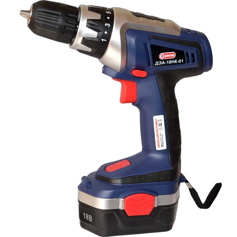 Drill-screwdriver rechargeable Diold ДЭА-18НК-01 (2 speed, work light, reverse) electric drill screwdriver diold эш 0 56 2 power 560 w 2 speed reverse