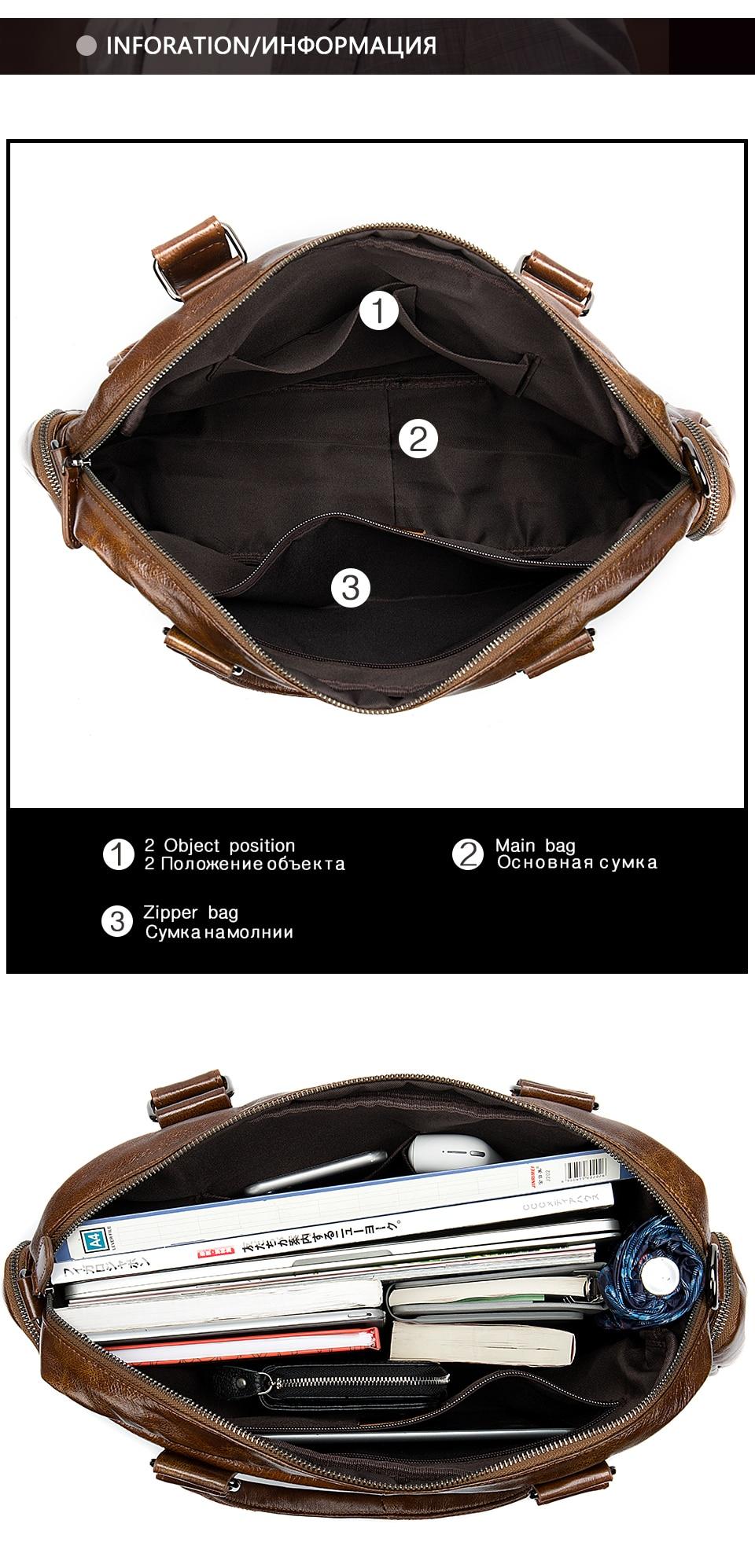 3 men\`s briefcase bag men\`s genuine leather bag mens briefcase messenger bags business laptop office bags for men handbag