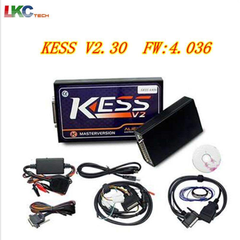 2018 A++Quality KESS HW V4.036 KESS V2 V2.32 KESS V2 OBD2 Tuning Kit No Token Limitation ECU Chip Tuning Tool Update by CD dhl free shipping kess v2 obd2 tuning kit v2 10 ecu kess v2 master no token limitation 2 years warranty