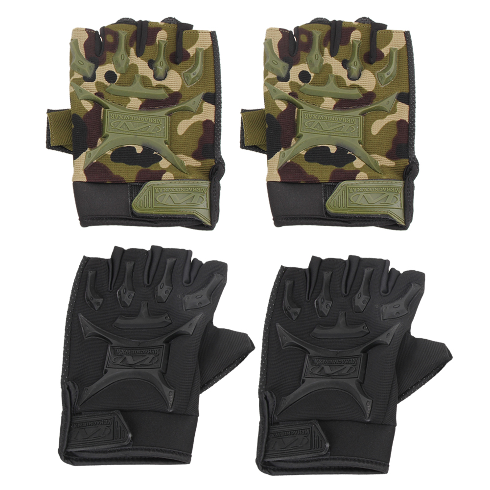 Motorcycle gloves victoria bc - 1 Pair Motorcycle Bike Non Slip Gloves Military Tactical Bicycle Short Gloves Cycling Cycle Gel