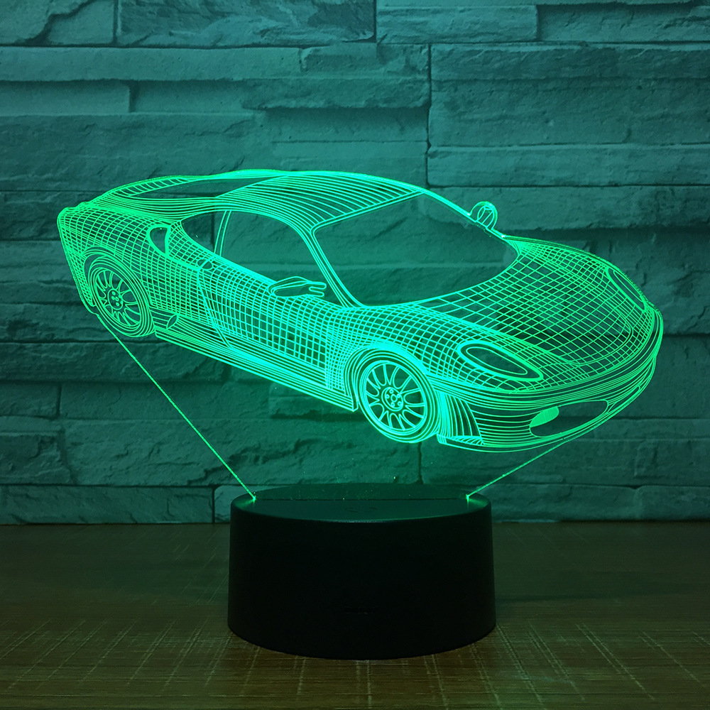 Manufacturers Spot Sports Car Usb Colorful 3d Small Night