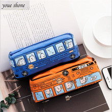 1PCS Korean creative stationery bus pen bag car pencil bags large capacity case student supplies for girl