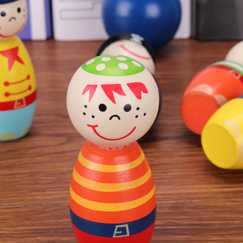 6 шт./компл. деревянный Крытый открытый набор Боулинг пиратский шар ручной работы