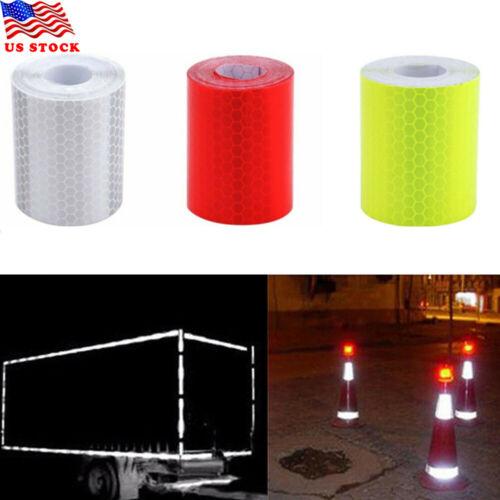 Traffic Reflector Warning Tape Roll Self-adhesive Film Sticker Car Truck Decal Transparent Tape