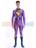 The Wonder Twins Zan Costume 3D Printed Spandex Halloween Suit Superhero Cosplay Zentai Bodysuit Free shiping