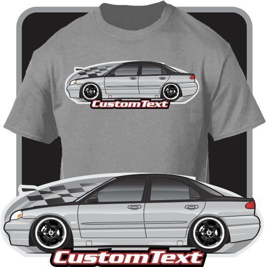 2018 Men'S Fashion Custom Car Art T-Shirt 94-00 Contour SVT Mystique LX Not Affiliated W American Classic Car Fans Base Shirt