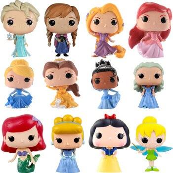 Funko POP Princess doll Belle/Cinderella/Rapunzel/Tiana/ARIEL/anna/elsa dolls pvc Action Figure toys for children birthday Gift