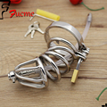 2015 Penis Sleeve Chromed Plated Metal Male Chastity Device Cock Cages Men's Virginity Lock Penis Ring Adult Games Sex Toys Size