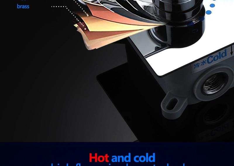 Bathroom 2 Way Hot Cold Brass Diverter Multifunctional Shower Kits Air Pressurized High Pressure Water Saving Shower Head Set (15)