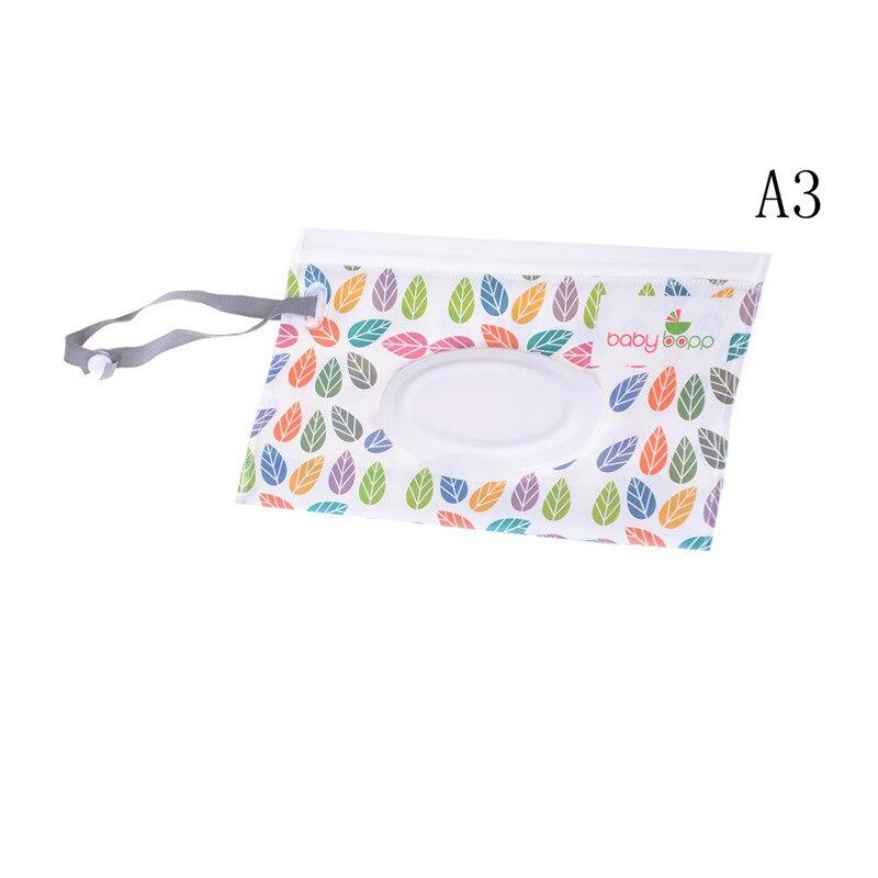 19 видов стилей, Детская сумка-клатч для салфеток, сумка-диспенсер влажных салфеток, сумка на застежке, сумка для путешествий, контейнер для влажных бумажных полотенец - Цвет: A3