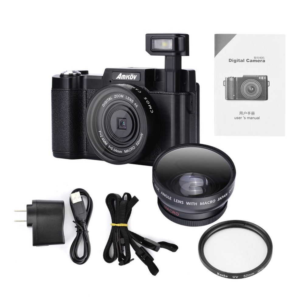 Original CDR2 24Mega Pixel 1080P HD Mini Digital Camera 4Times Digital Zoom Camera With TFT Display Beauty Self Timer Function(China)