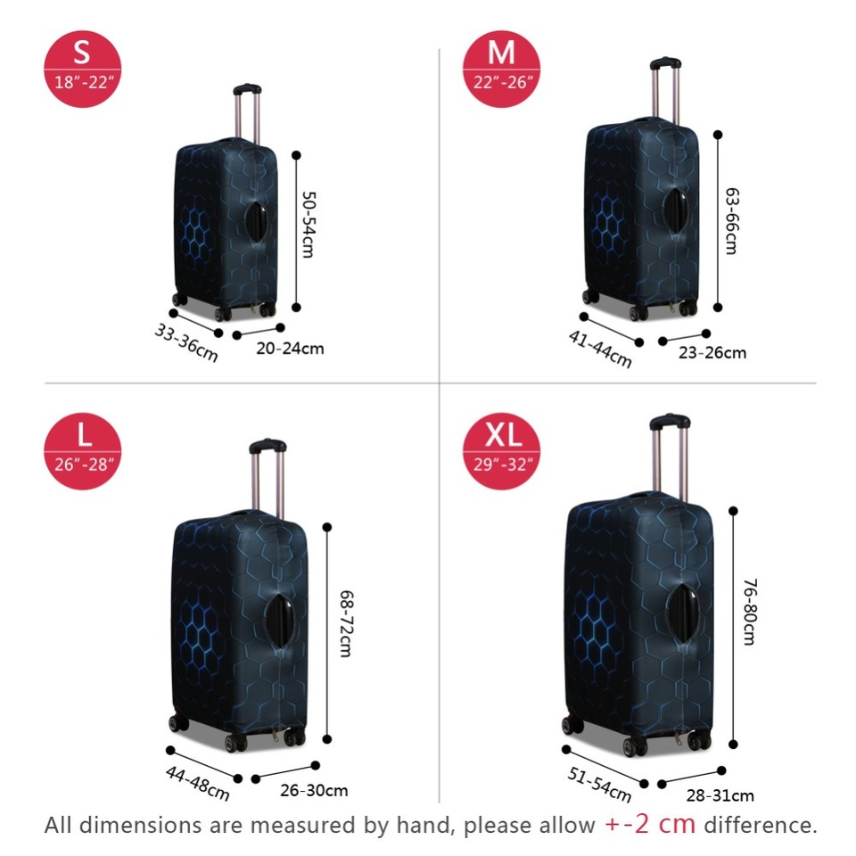 0baff8b22db8 Dispalang Skull Black Luggage Cover Cool Waterproof Elastic Suitcase ...