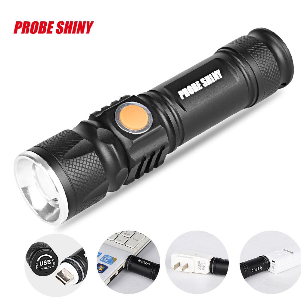 Adjustable Led Zoom 3000lm Mini Usb Rechargeable Flashlight Torch Portable Led Torch Flashlight Latarka Handheld Linterna Lanter Led Flashlights Led Lighting