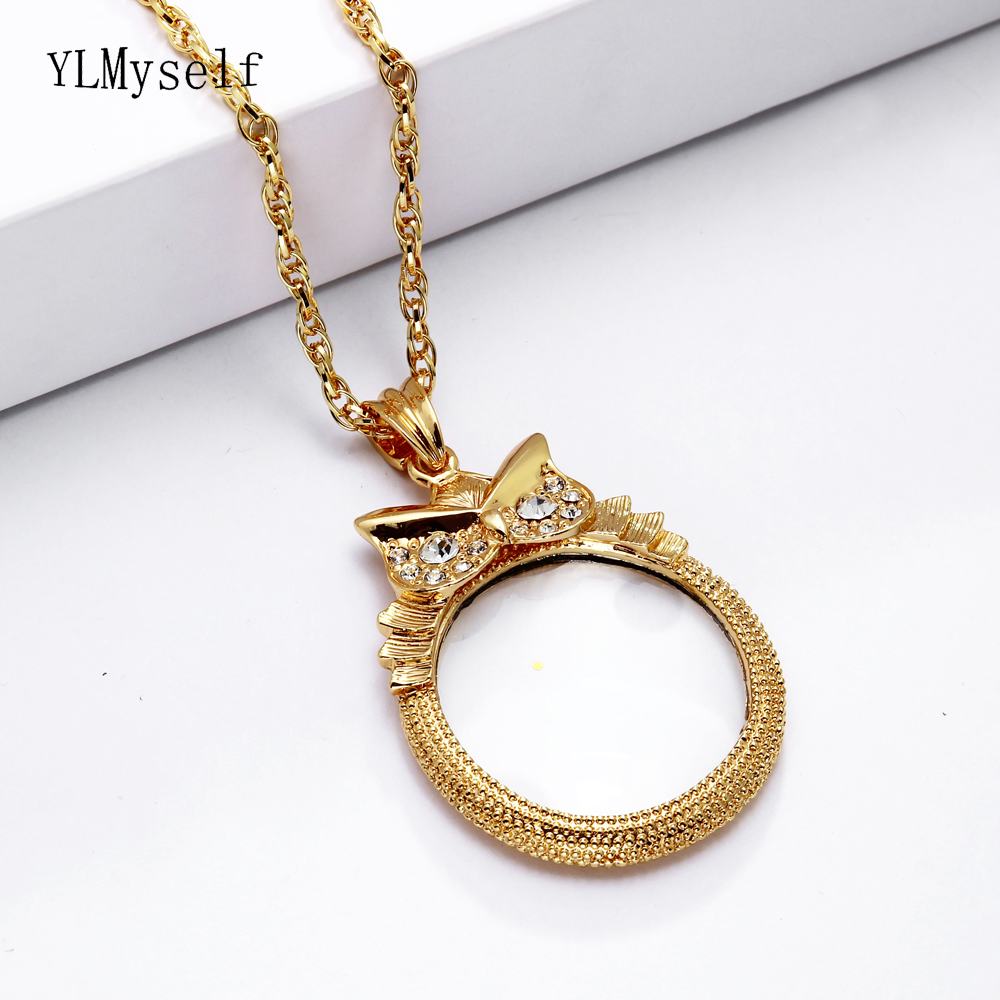 Hot sale jewellers magnifying glasses for reading pendant owl long jewellers magnifying glasses for reading pendant owl long chain necklaces womens fashion magnifier necklace aloadofball Choice Image