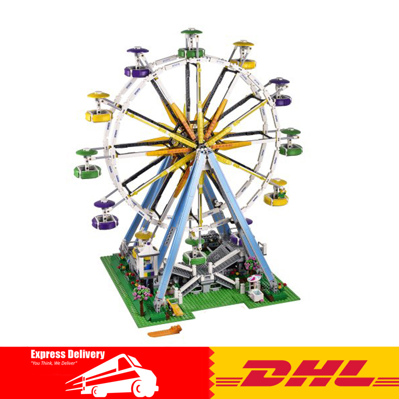 Lepin 15033 1170Pcs Building Classic Series The Three-in-One Electric Ferris Wheel Set Building Blocks Bricks Toys Model 10247 lepin 15012 2478pcs city series expert ferris wheel model building kits blocks bricks lepins toy gift clone 10247