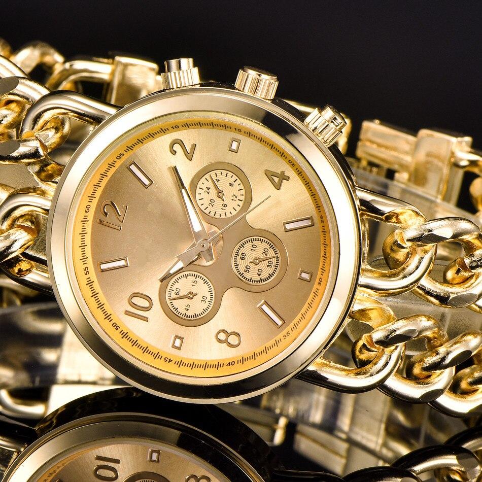 Pulseira Da Moda Relógio de Aço Inoxidável