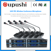 OUPUSHI HY318 wireless microphone 8 Channel Gooseneck UHF PPL Wireless Table Microphone meeting room MIKE