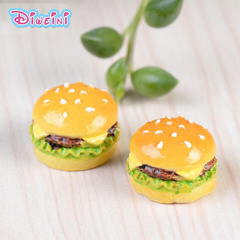 Miniature Hamburger Simulation Food Miniature Figurine Pretend Play Kitchen Toy Doll House DIY Accessories Gift Baby Gift