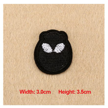 1PC Patches For Clothing Embroidery Cartoon Badge 3.0X3.5cm Patches For Apparel Bags DIY Accessories