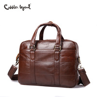 Cobbler Legend New Genuine Leather Men Briefcase Famous Brand Business Laptop Briefcase Crossbody Shoulder Bag Fashion