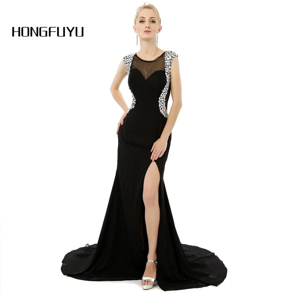 14be1df2347cb Vestido De Festa Scoop Boncuk Yüksek Yarık Uzun Abiye 2019 Cap Kollu Kat  Uzunluk Mermaid Abiye giyim DNS114