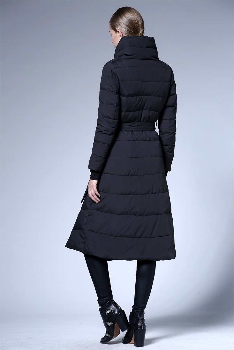 c53d2b077 US $82.78  2018 new women's winter lace long section down jacket thickening  black blue red white down coat-in Down Coats from Women's Clothing on ...