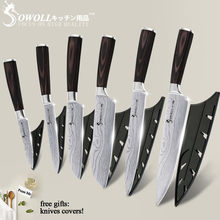 SOWOLL Kitchen Knives Stainless Steel Knife Tools Color Wood Handle Fruit Vegetable Meat Cooking Tools Accessories New Arrival(China)