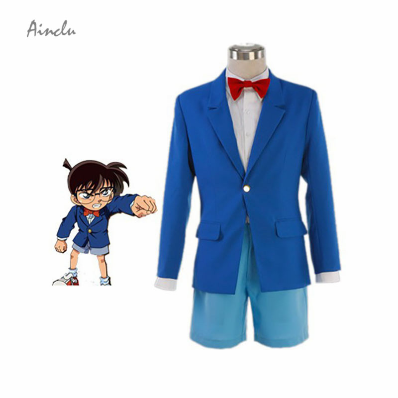 Ainclu Hot Men and Adult Costume Detective Conan Edogawa Cotton Polyester Cosplay Costume for Halloween Christmas