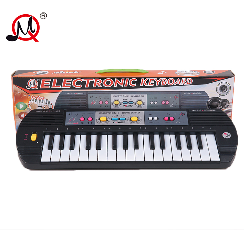 32 Keys Childrens Musical Instruments Keyboard With Toys Microphone Battery Early Educational