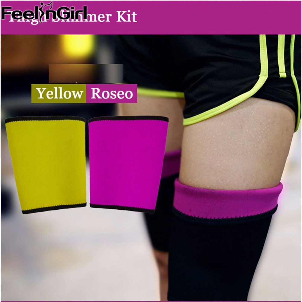 1Pair Nerprene Legs Slimmer Sweat Hot sauna Wraps Leg Slimming Body Thighs Beauty Shaper Shapewear Calories off Burner Belts-C