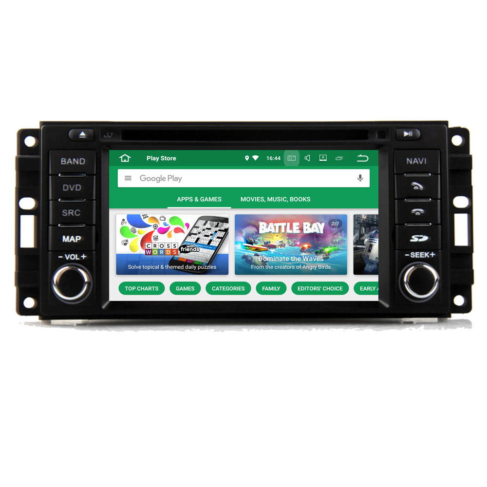 Lecteur multimédia RoverOne Android 8.0 pour Jeep Grand Cherokee 2008-2010 Radio HD stéréo DVD GPS Sat Navi Media PhoneLink