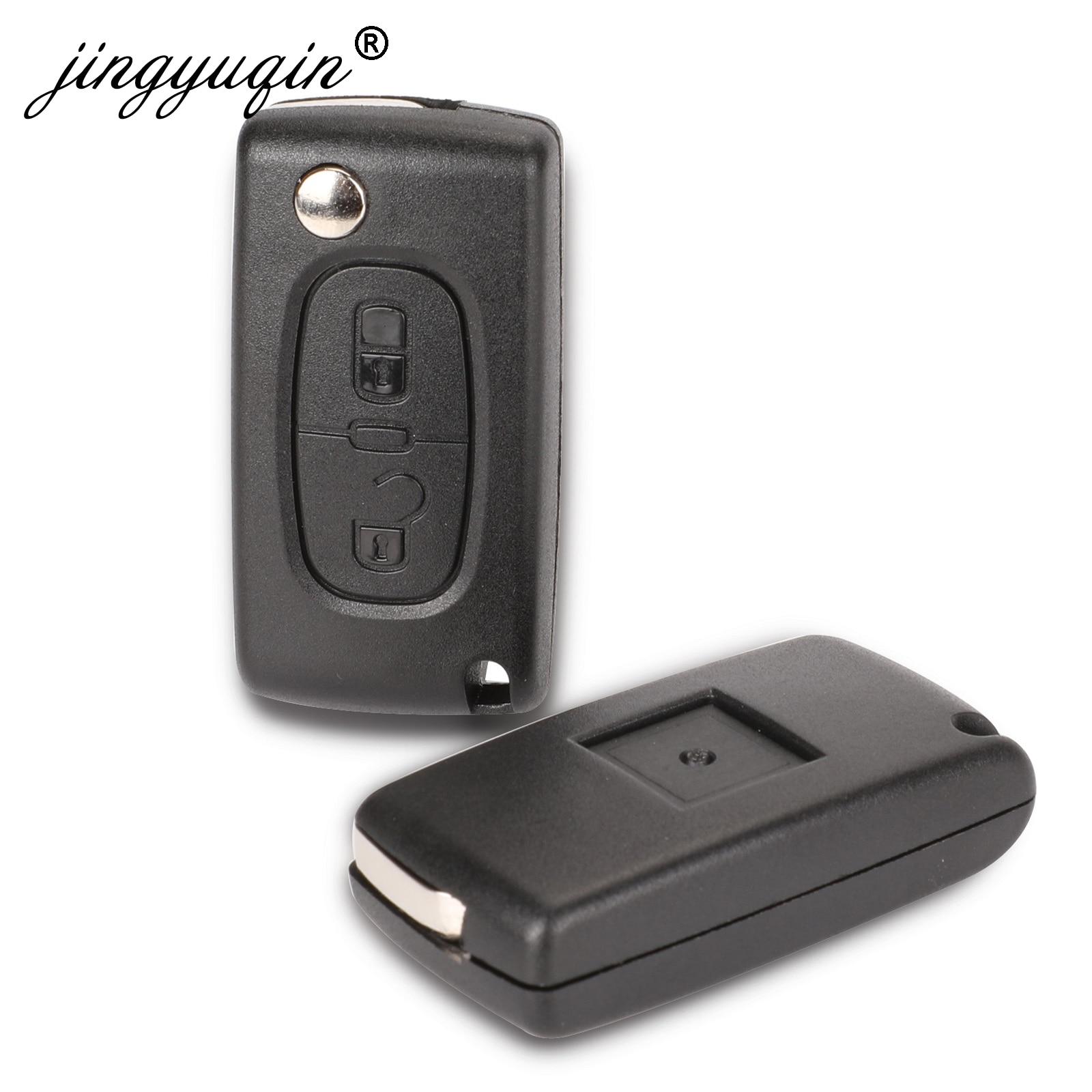 Jingyuqin 2 кнопки раскладной чехол для ключей пустой корпус для Peugeot 107 207 407 307 307S 308 407 607 807 VA2/HCA Ce0523 Ce0536