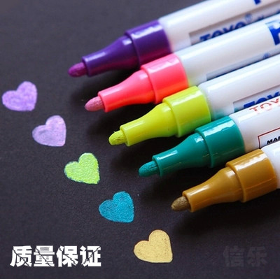 1pcs  colorful marker waterproof lasting white markers tire tread rubber fabric paint metal face Permanent toyo Paint Marker Pen 3
