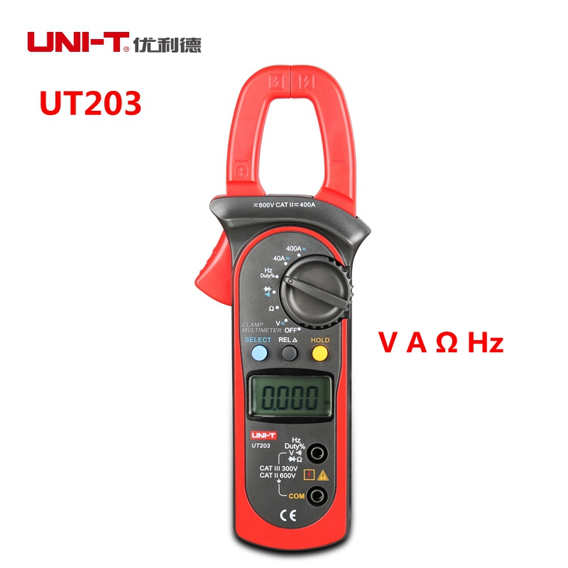 A Digital Clamp Meter 400 : Uni t ut  a digital clamp multimeter voltage