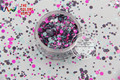RFI321-193  Mix Colors Dot shapes round  Glitter for nail art ,nail gel,makeup and DIY decoration