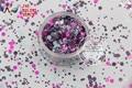 RFI321-193  Mix Colors Dot shapes round  Glitter for nail art ,nail gel,makeup and DIY decoration