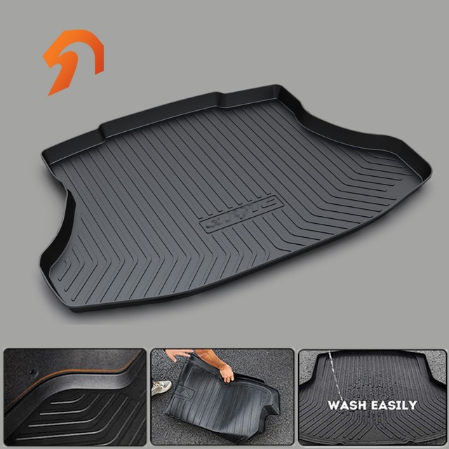 Rubber Rear Trunk Cargo Tray Cover Floor Mats For Honda Fit Odyssey Cr