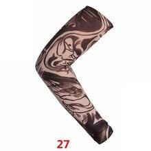 ┽ Длинные рукава Поддельные тату чулки Эластичный рукав Рукава Чулки Удобные модные скины Защита от