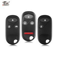 Dandkey 20x For Honda Civic CRV S2000 Civic Accord Jazz Odyssey Keyless Case 2 3 3+1 Buttons Car Remote Key With Battery Holder