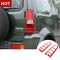 ABS Car Rear Tail Light Frame Cover Trim For Suzuki Jimny 2007 2015 Red 2pcs