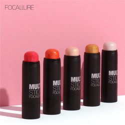 FOCALLURE Face Blushes Bronzer Highlighter and Shimmer for Bright Idea Illuminating Sticker Makeup Tools