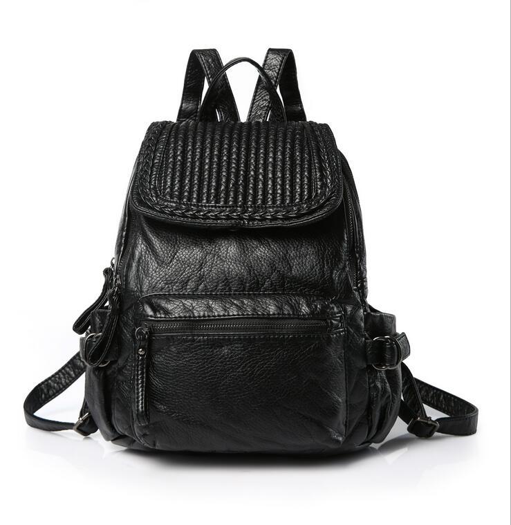 stacy bag 091816 hot sale lady fashion PU leather backpack