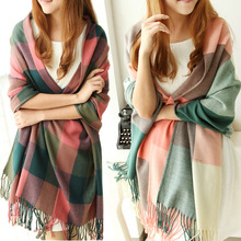 luxury brand Long Oversized Womens Pashmina Scarfs Fashionable Women Fringe Tassel Scarf Large Plaid Adult tartan Shawl Scarves