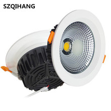 Dimmable LED Recessed Downlight 7W 10W 15W 20W 24W Spot Ceiling Down Light 110V 220V 230V COB
