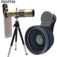 SNAPUM Mobile Phone 12x 18x 20x Telescope 0 45x Wide Lens 10x Macro 3 In 1
