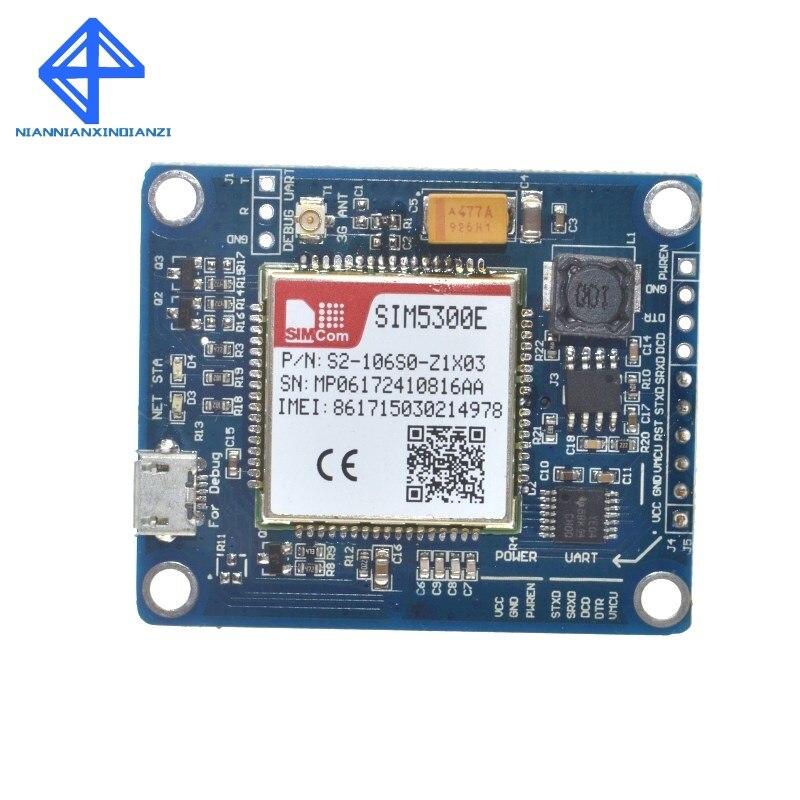 SIM5300E 3G module Development Board Quad-band GSM GPRS GPS SMS with PCB AntennaSIM5300E 3G module Development Board Quad-band GSM GPRS GPS SMS with PCB Antenna